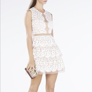 BCBG Maxazria Sophea white lace dress